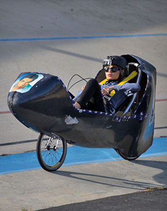 ASME's International Human Powered Vehicle Challenge (HPVC) is one of the contests, that present engineering as an attractive career option. Image: Mark Palmquist