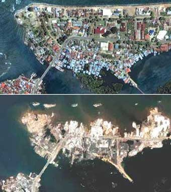 Satellite Photographs 2004 Indian Ocean Earthquake
