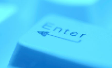 Enter Key in Blue