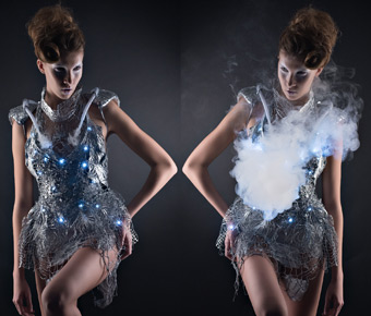 a-boo: High-tech dress disappears with elevated heart rate