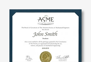 ASME Membership Certificates thumbnail