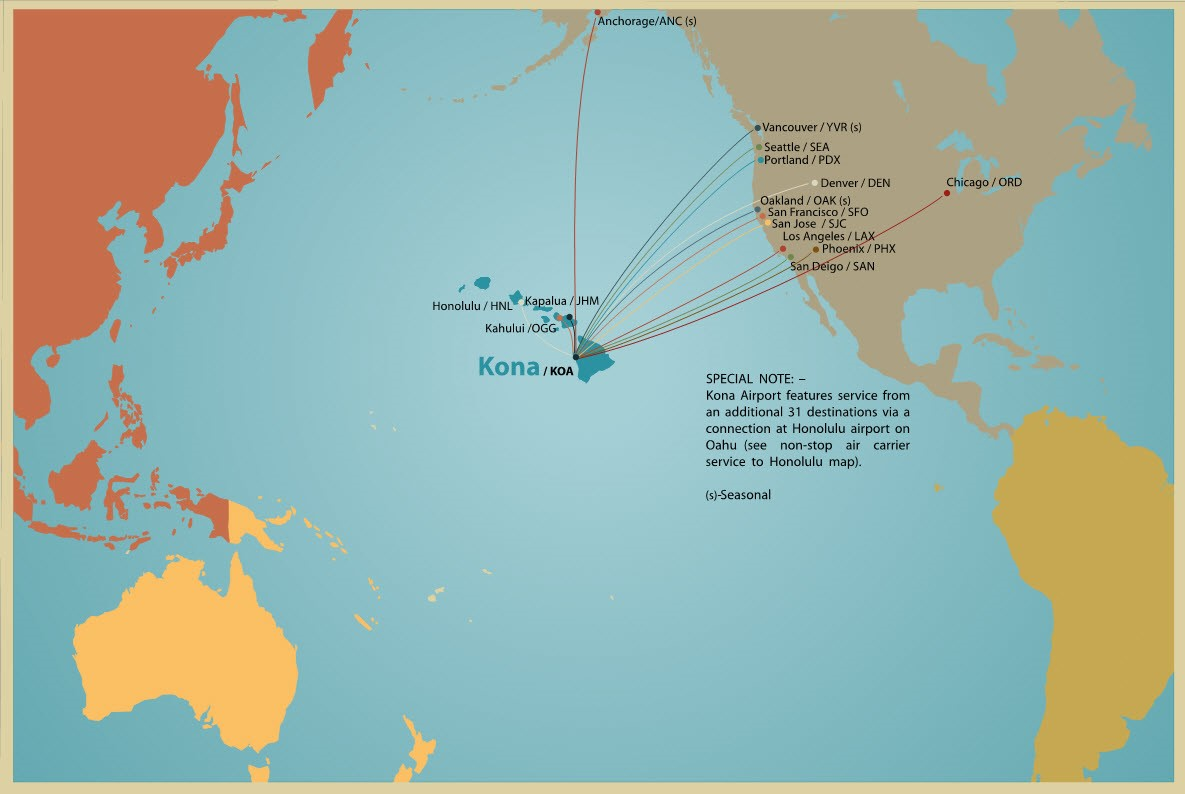 Hawaii North American Routes