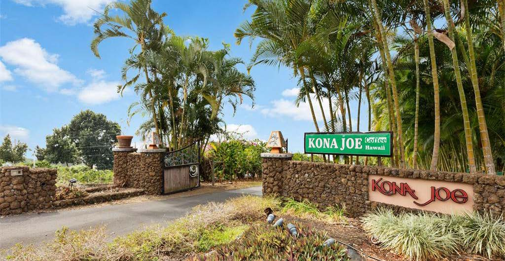 pvp tour kona joe coffee entrance